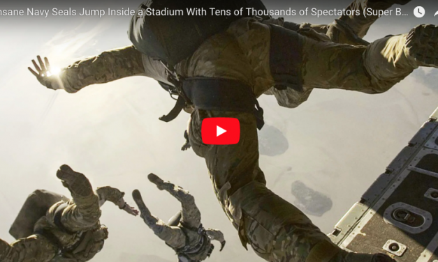 Navy Seals Jump Inside a Stadium With Tens of Thousands of Spectators