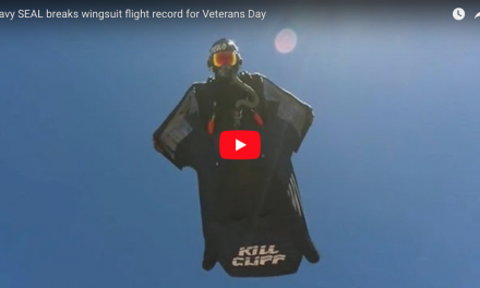Navy SEAL breaks wingsuit flight record for Veterans Day